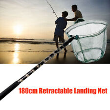 180cm Telescoping Aluminum Alloy Pole Foldable Fishing Brail Landing Net Tackle