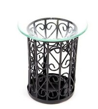Metallo nero mesh e vetro petrolio BRUCIATORE