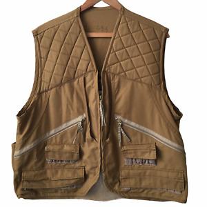 Gamehide Hunter's Brown Front-Loader Canvas Duck Hunting Vest Style #92 Size L