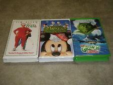 Disney's The Santa Clause Mickey's Twice A Christmas Grinch Stole Christmas VHS