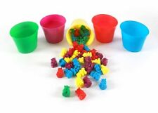 50 Counting Bears with 5 Cups , New, Free Shipping