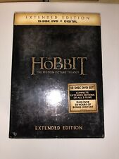 The Hobbit: Motion Picture Trilogy Extended Edition 15-Disc Set Digital DVD NEW
