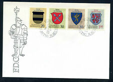 Liechtenstein 1965 Coats of Arms / wappen FDC, Mi. 450 - 453.