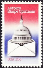 US - 1980 - 15 Cents Letters Shape Opinions Letter Writing Series Issue #1809 NH