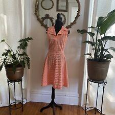 vintage orange /white summer dress size small?