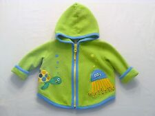 Hanna Andersson Jellyfish Turtle Bubbles Quilted Hooded Jacket, 60 (US 6-9 mos)