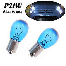 2x P21W Blue Vision 12V BA15s Jurmann Super Weiß Tagfahrlicht Halogen Auto Lampe