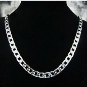 Classic 925 Sterling Silver Link Chain Necklace (FSJN148)