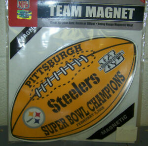 """Pittsburgh Steelers NFL 2006 Super Bowl XL 40 Champions 14"""" Auto Car Magnet"""
