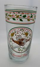 Anchor Hocking Twelve Days of Christmas Glass 2nd Day Turtle Doves