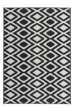 Tapis poil ras rugueuse motif intérieur et extérieur Tapis noir blanc 80CMX150CM