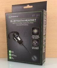 NEW Andrea Headsets Bluetooth Noise Cancelling Monaural BT-201