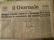 Il Giornale Quotidiano del 27 ottobre 1983 Reagan manda rinforzi a...  (Q225)