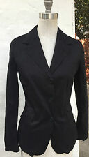 THINPLE Black Blazer Nina B-42 Jacket Sz S M Womens Made In Italy