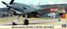 MESSERSCHMITT Bf 109 E-3 SWISS A.F. MARKINGS 1/72 HASEGAWA