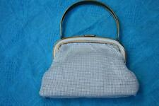 OROTON White Mesh Vintage 1970s Formal-Evening Stylish Stand-Up Handbag GENUINE