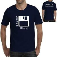 Never Forget Floppy Disk Retro Vintage Mens Gift Graphic Printed T-Shirt Tee