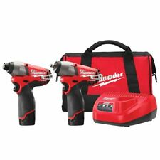 Milwaukee 2595-22 12-Volt 2-Tool Impact Driver and Impact Wrench Combo Kit