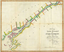 "1815 Map East End of Lake Ontario and River St Lawrence Naval Military 11""x14"""