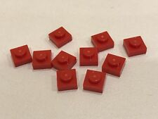 10 Lego P/N 3024 1x1 Building Plate Red - NEW (C019)