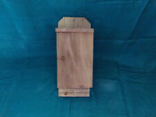 Bat House Solid Cedar 1 Chamber Custom Handcrafted Bug & Pest Control Small Size