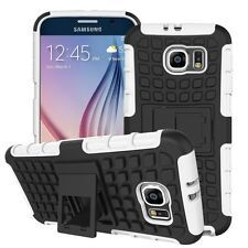 Shockproof Protection Heavy Duty Tough 2 Layer Phone Case Cover+Stand✔White