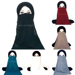 Elastic Half Niqab -VEIL- Various Colours Breathable High Quality Soft Material