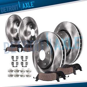 2005 Fit Dodge Grand Caravan w//Rear Drum Black Slot Drill Rotor w//Ceramic Pads F