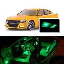 For Dodge Charger 2011-2015 Green LED Interior Kit + Green License Light LED