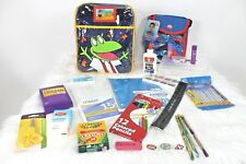 Kindergarten 1st Grade Filled Backpack School Supplies & Lunch Bag Shark Frog