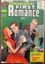 First Romance #38 comic book 1956 Silver Age girl love stories Bob Powell Harvey