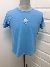 LIFE IS GOOD WOMEN'S SIZE L SUCKER FOR DIMPLES  S/S T-Shirt 100% Cotton Blue GUC