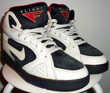 VINTAGE 1993 NIKE ULTRA FLIGHT 3/4 II (WHT/ BLK/ RED/ GLD/ PUR) SHOES 10 (90's)
