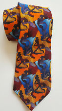"""Vtg Jerry Garcia Multi-color Tie """"Cartoon Limbo"""" Collection 8 L Great Characters"""