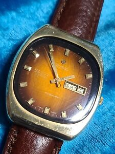 Vintage Mens Gold Plated ZODIAC SST 36000 21 Jewel Adjusted Automatic Wristwatch