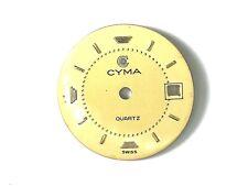 Esfera CYMA QUARTZ 19,5mm Dial original dorada calibre ETA 956112-14