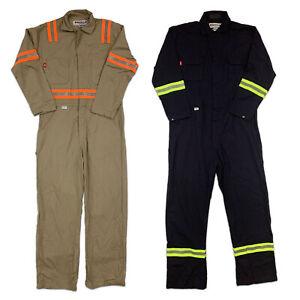Flame Resistant Reflective Coverall Hi Vis FR Clothes Industrial Uniform HRC2