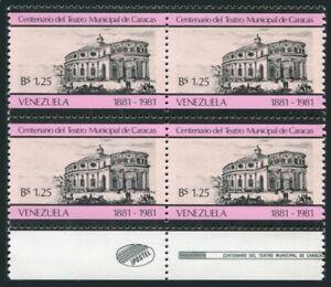 Venezuela 1246 block/4,MNH.Mi 2171. Municipal Theater of Caracas,centenary,1981.
