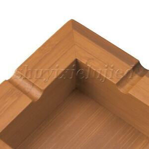 Square Bamboo Ashtray L10xW10xH3.3cm Carbonized Color for Collecting Ashes