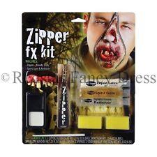 ZIPPER FX MAKE UP KIT FAKE ZIP ZOMBIE WOUND CUT GORE SCAR HALLOWEEN FANCY DRESS