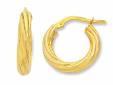 Hoop Yellow Gold Filled Fashion Earrings