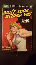 "Samuel Rogers, ""Don't Look Behind You,"" 1950, Popular Library 287, VG+, 1st"