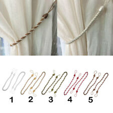 Braided Rope Voile Drape Tiebacks Net Curtain Panel Holdbacks 64cm 2pcs Sold