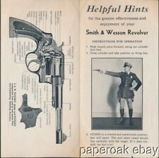 ca1920's Smith & Wesson Revolver Instructions For Operations Folder