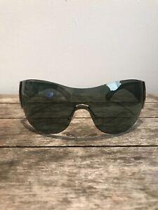 New Silver/Green Georgio Armani 278/S 052EZ Dead Stocked Rare Unisex Sunglasses