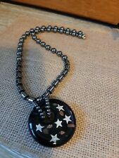 Magnetic Beaded Necklace With Glass Pendant