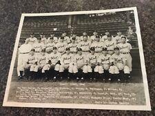 1945 original Detroit Tigers Dorrill Team photo World Series champions Greenberg