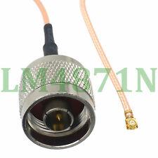 "cable N male plug straight to IPX U.fl female RG178 8"" pigtail"