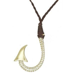 Disney Couture SALE! Gold Pirates of the Caribbean Crystal Hook Necklace