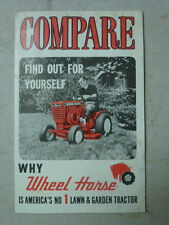 Vintage Wheel Horse Fold-Out Sales Brochure, Comparing Them To Other Brands